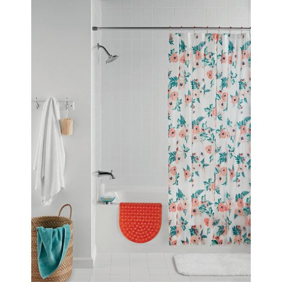 Mainstays 14 Piece Floral Shower Curtain Set