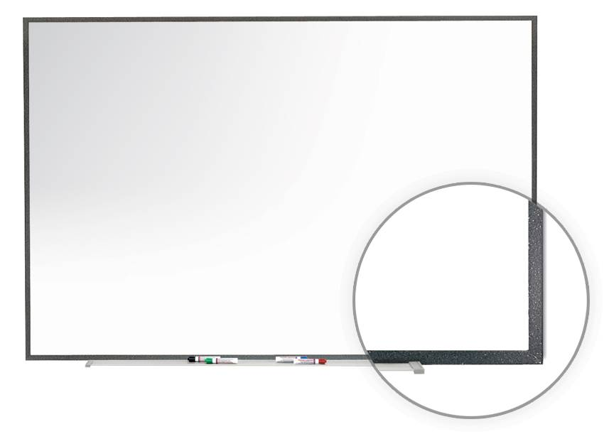 Premium Porcelain Magnetic Whiteboard (72.5 in. W x 2.28 in. D x 48.5 in. H) by Ghent