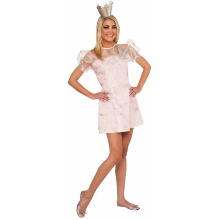Wizard Of Oz Young Adult Glinda The Good Witch Dress Women's Adult Halloween Costume