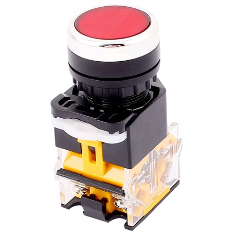 Red Button 4 Terminals DPST Momentary Emergency Stop Push Button Switch