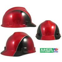 MSA V-Gard Cap Style Rally Design Hard Hats w/ Ratchet Suspension