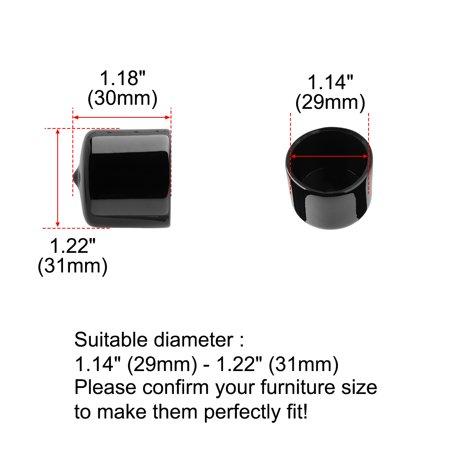 "PVC Leg Tip Furniture Chair Desk Feet Floor Protector 29mm 1.14"" Inner Dia 32pcs - image 7 de 7"