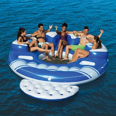 Bestway Blue Caribbean 6 Person Floating Island Walmart Com