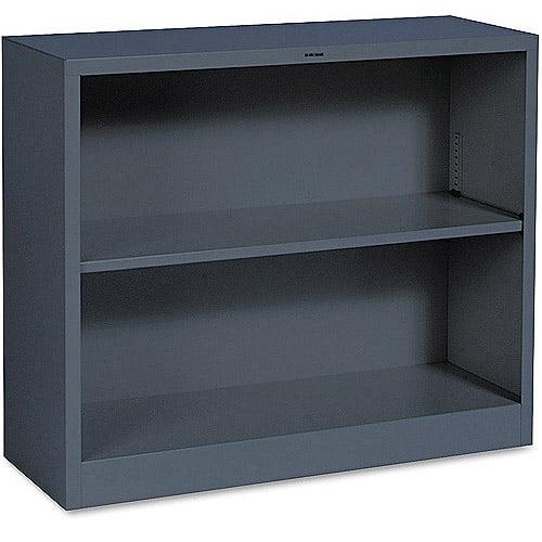 HON Metal Bookcase, 34-1/2w x 12-5/8d x 29h, 2 Shelves