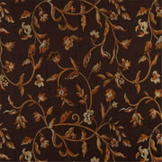 Designer Fabrics K0011B 54 in. Wide Brown, Gold, Persimmon And Ivory Embroidered, Floral Brocade, Upholstery And Window Treatments Fabric