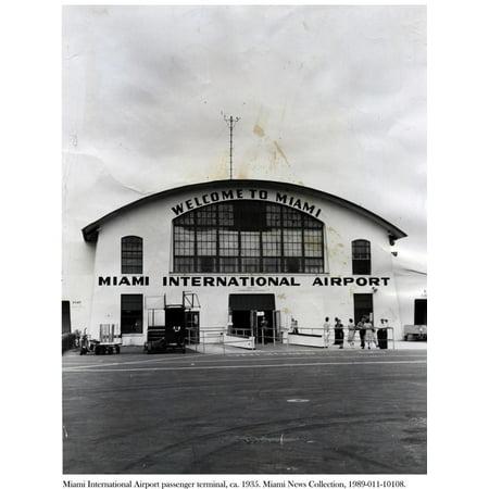 Miami International Airport Passenger Terminal, C.1935 Print Wall (Miami International University Of Art & Design Miami)