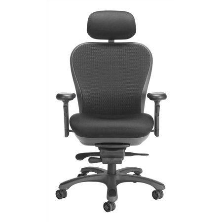 Nightingale Cxo Executive Back Chair Black Headrest Blue