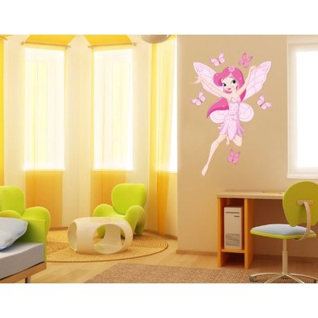 Butterfly and the Princess Wall Decal - wall print decal a242e42be
