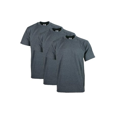 98154b023 Pro Club - Pro Club Men's Heavyweight Cotton Short Sleeve Crew Neck T-Shirt,  Charcoal, 2X-Large, (3 Pack) - Walmart.com