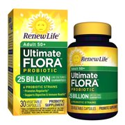 Renew Life Adult 50+ Probiotic, Ultimate Flora, 25 Billion, 30 Capsules
