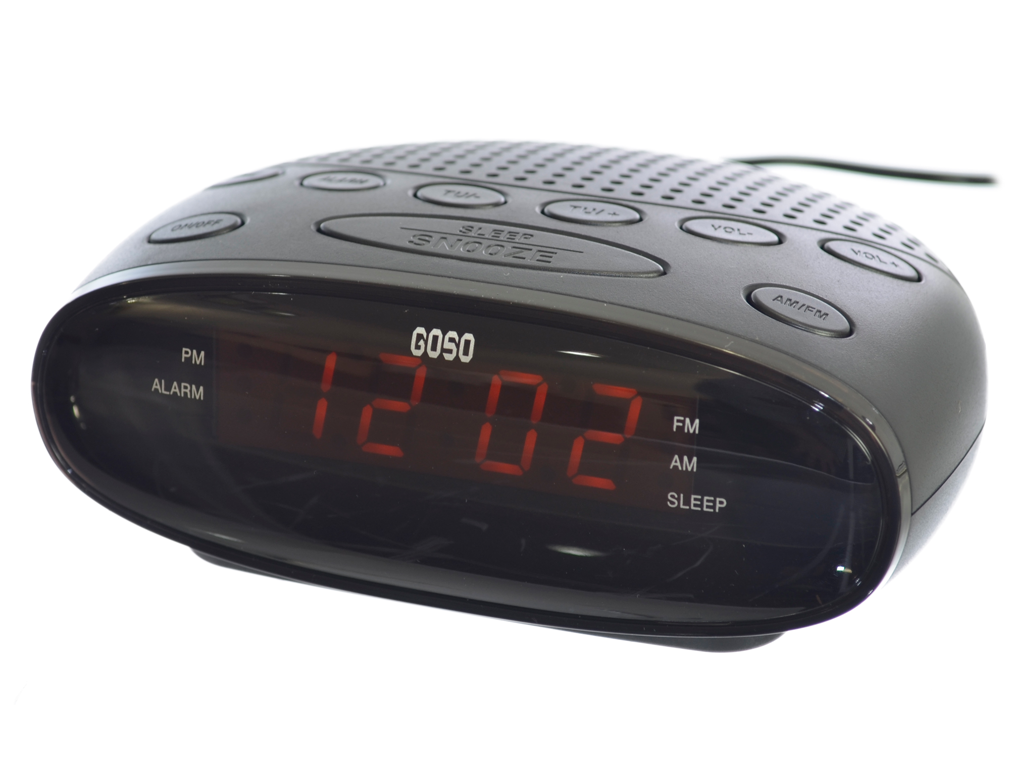 GOSO Digital Alarm Clock Radio with LED Display Digital AM FM Tuner Sleep Snooze by GOSO Direct