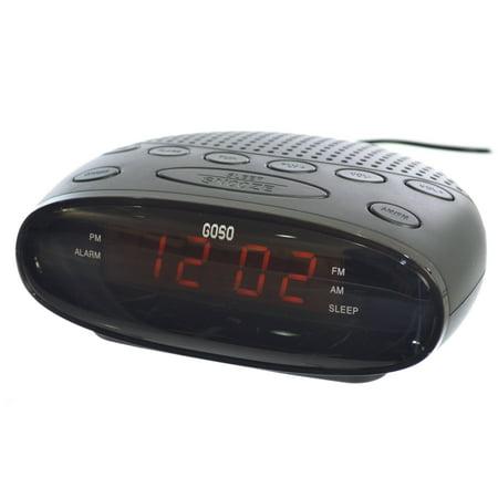 goso digital alarm clock radio with led display digital am. Black Bedroom Furniture Sets. Home Design Ideas