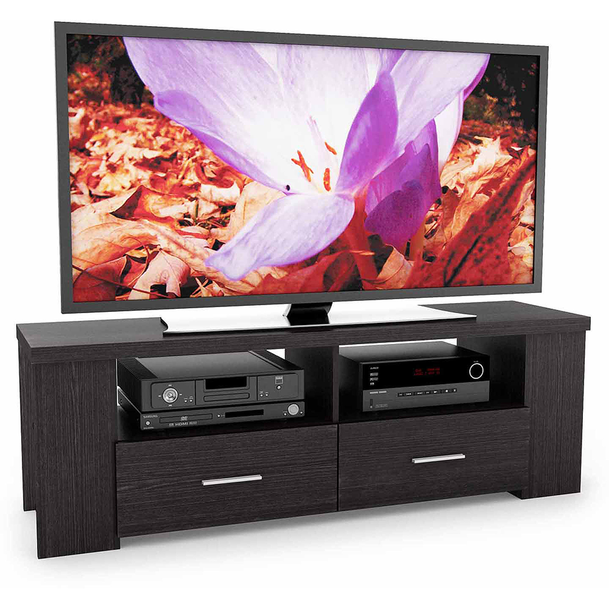 Sonax Bromley Ravenwood Black TV Bench for TVs up to 70""