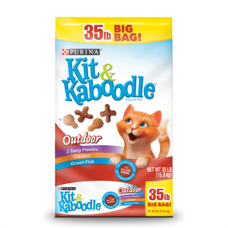 Purina Kit & Kaboodle Outdoor Chicken & Ocean Fish Dry Cat Food, 35 (Best Cat Food For Outdoor Cats)