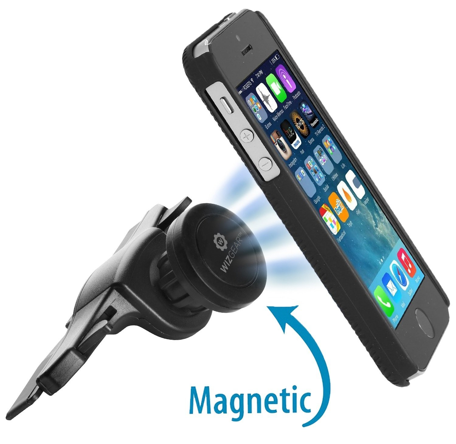 Magnetic cell phone car holder cd slot mount 8
