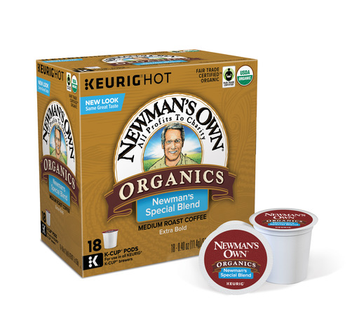 Newman's Own Organics Special Blend Keurig Single-Serve K-Cup Pods, Medium Roast Coffee, 18 Count