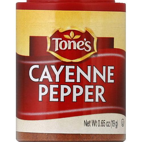 Tone's Cayenne Pepper, 0.65 oz, (Pack of 6)