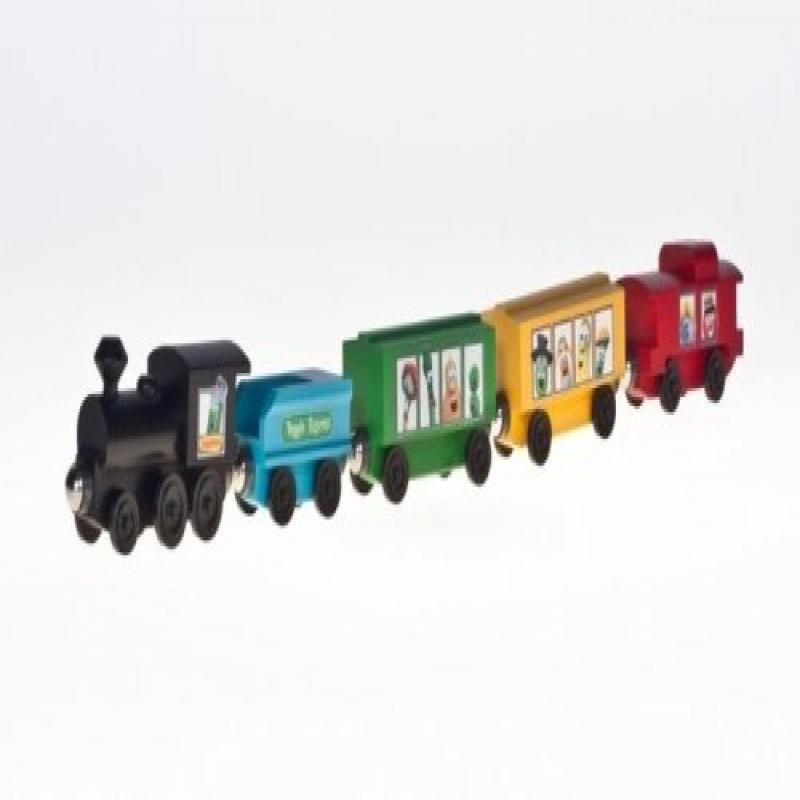 Veggie Tales Veggie Express Wooden Train Set (00513) by