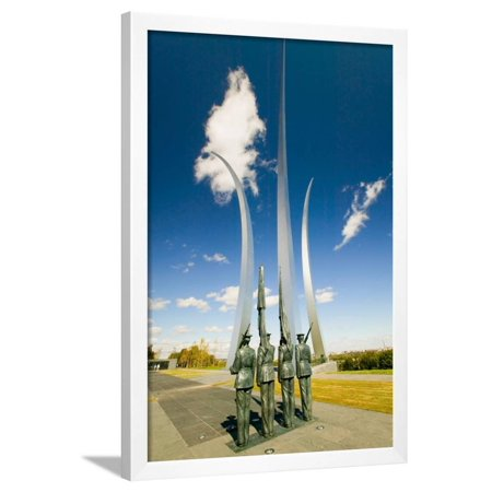 Bronze Honor Guard and three soaring spires of the Air Force Memorial, One Air Force Memorial Dr... Framed Print Wall