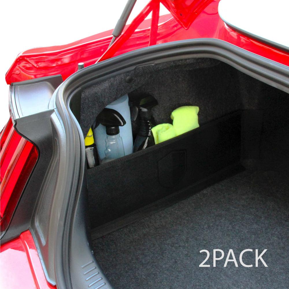 RED SHIELD Auto Trunk Organizer for Car, SUV, or Minivan – 22.4 x 7.08 inches [Black/2PK]