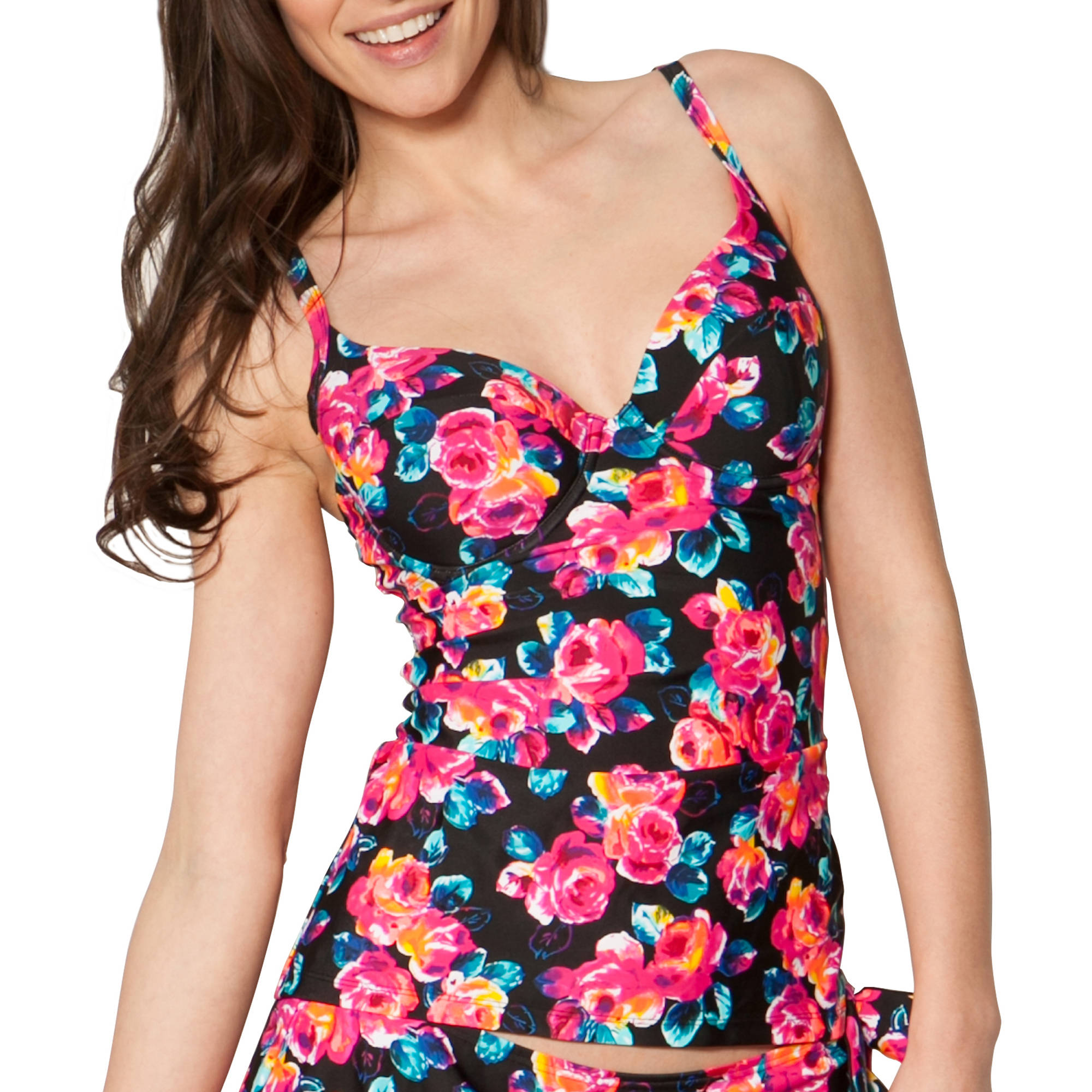 Smart & Sexy Women's Long Tankini Top--Choose Your Bra Size For The Perfect Fit