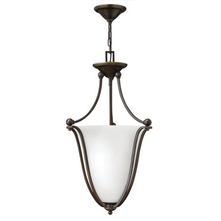 Hinkley Lighting 4663-OPAL 3-Light Indoor Urn Pendant with Etched Opal Shade from the Bolla Collection