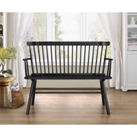 Jerimiah Entryway Spindleback Bench, Multiple Finishes