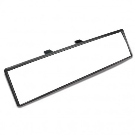 Rear Center View Clear Mirror Universal Car Wide 300m Clip On Panoramic Flat