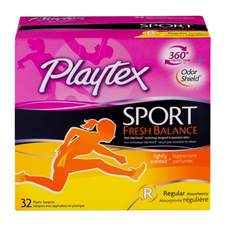 Playtex Sport Fresh Balance Tampons Regular Lightly Scented   32 Ct