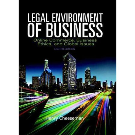 Legal Environment Of Business  Online Commerce  Business Ethics  And Global Issues