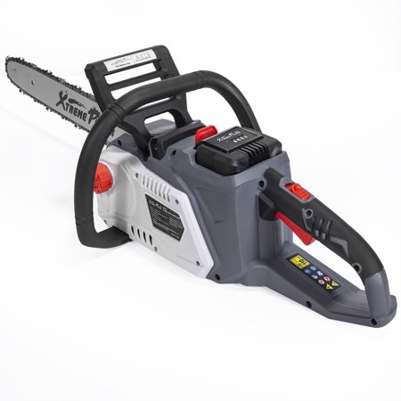 XtremepowerUS 36V 16-Inch Cordless Chainsaw High-Efficiency 3.0 AH Battery and Charger Include Set