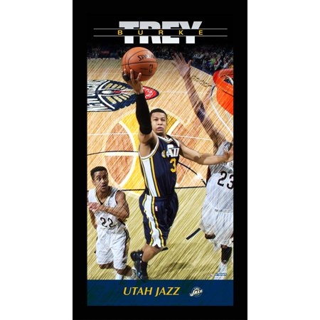 Utah Jazz Trey Burke Player Profile Wall Art 9.5x19 Framed Photo