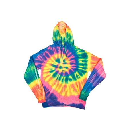 16943e4968103 2bhip - swirly spiral unisex adult tie dye hoodie hooded sweatshirt -  Walmart.com
