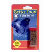 SFBB Betta Food 71401 Freeze Dried Natural Fish Bloodworms, 1 g Vial