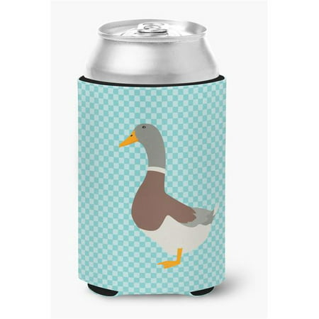 Saxony Sachsenente Duck Blue Check Can or Bottle Hugger - image 1 de 1