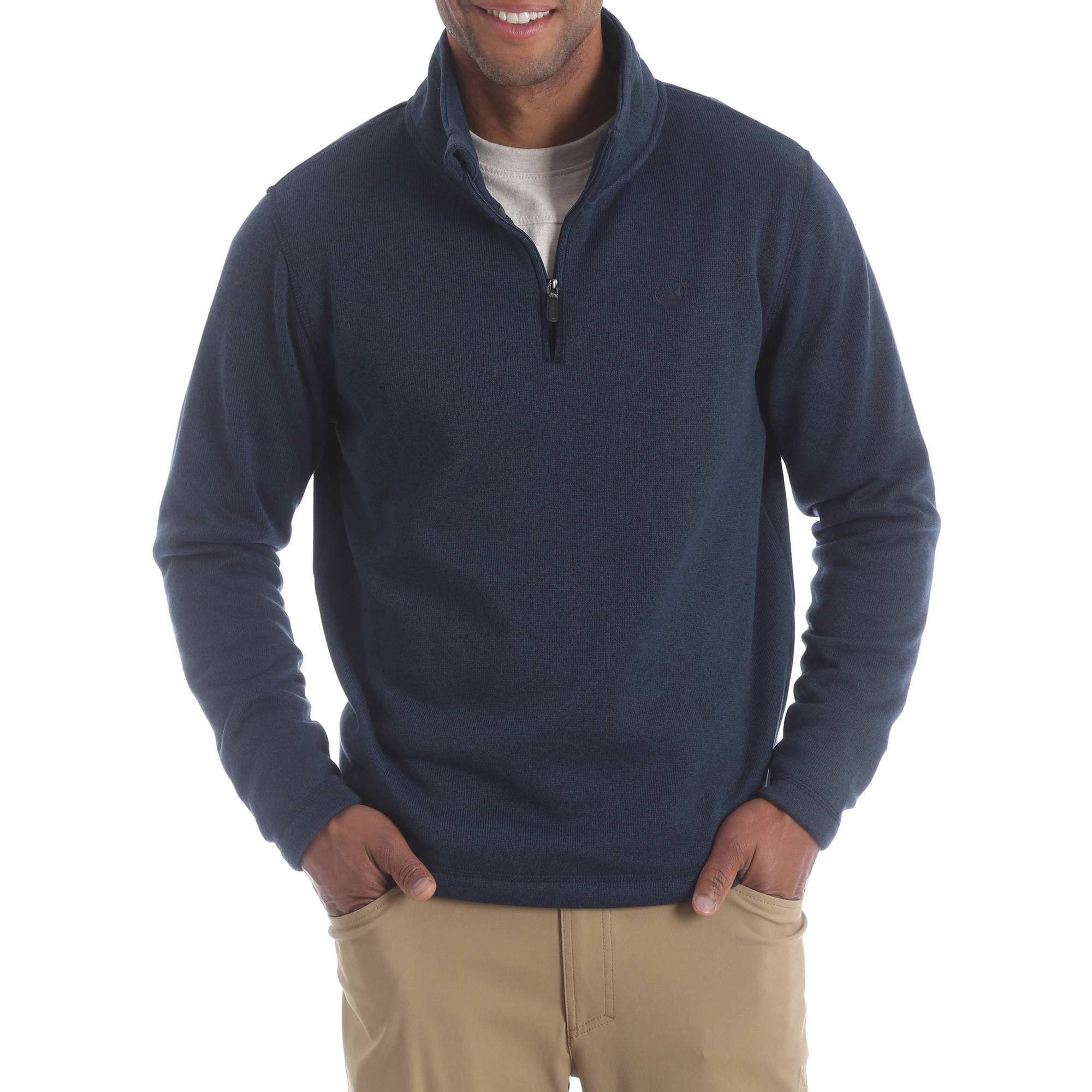 Wrangler Men's Wicking Quarter Zip Fleece Sweater