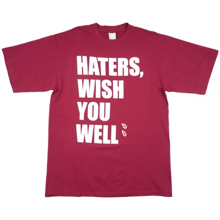 Haters Wish You Well T-Shirt Burgundy Mens Plus - Wish Size Chart