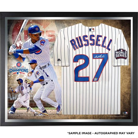 - Addison Russell Chicago Cubs Fanatics Authentic 2016 MLB World Series Champions Framed Autographed Majestic White Replica World Series Jersey Collage - No Size