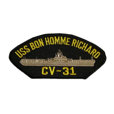 Uss Essex Class - USS BON HOMME RICHARD CV-31 PATCH NAVY ESSEX CLASS AIRCRAFT CARRIER BONNIE DICK
