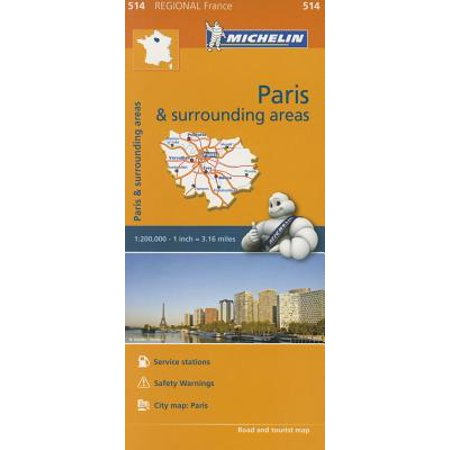Michelin Regional Maps: France : Paris and Surrounding Areas Map 514 - Folded