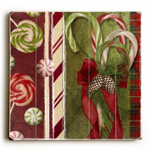 Artehouse LLC Acorns and Candy Canes Graphic Art
