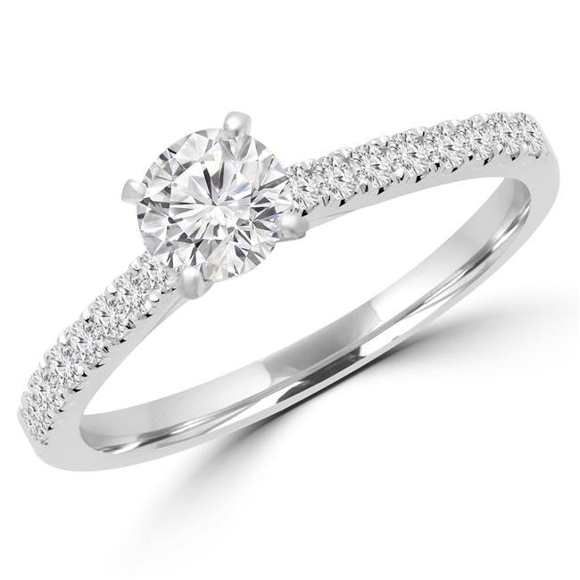 0.75CTW BRILLIANT STONES ENGAGEMENT WEDDING RING BAND size 5,7,8,9,10