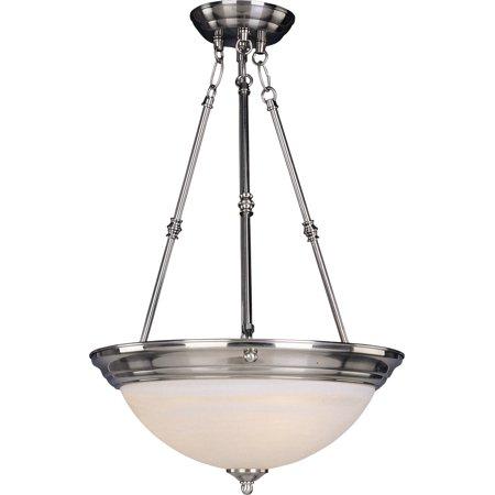 Pendants 3 Light Bulb Fixture With Satin Nickel Finish Iron Material Medium Bulbs 15 inch 300 Watts