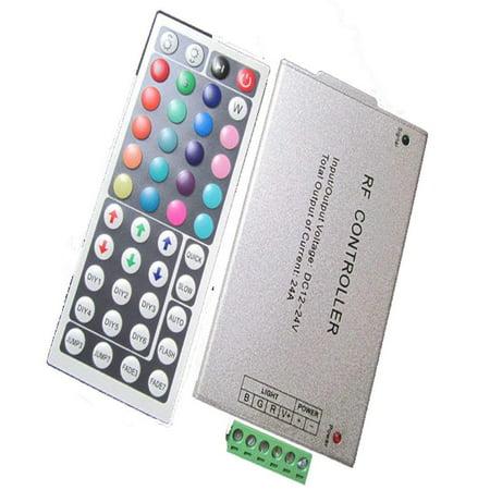 12V-24V DC 20A 240W 44Key IR Remote Controller for RGB LED Strip 5050 3528 SMD, IR Controller adopts the advanced micro control unit, it is used for.., By (Micro Control Unit)