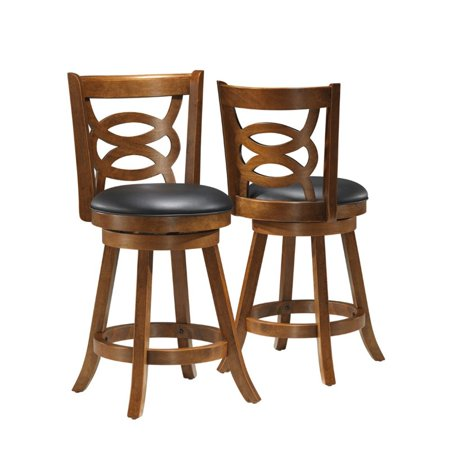 Fabulous Pemberly Row 24 Swivel Counter Stool In Dark Oak Set Of 2 Pabps2019 Chair Design Images Pabps2019Com