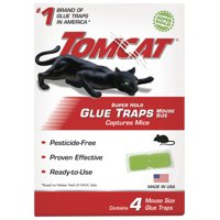 Tomcat Super Hold Glue Mouse Traps, 4 Pack