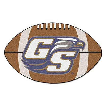 FANMATS NCAA Georgia Southern University Eagles Nylon Face Football Rug - Fanmats Georgia Rug