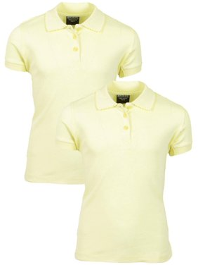 5b475e435 Product Image Girls' School Uniform 2 Pack Short Sleeve Pique Polo