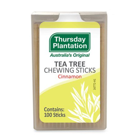 Tea Tree Chewing Sticks  Cinnamon Thursday Plantation 100 Toothpick