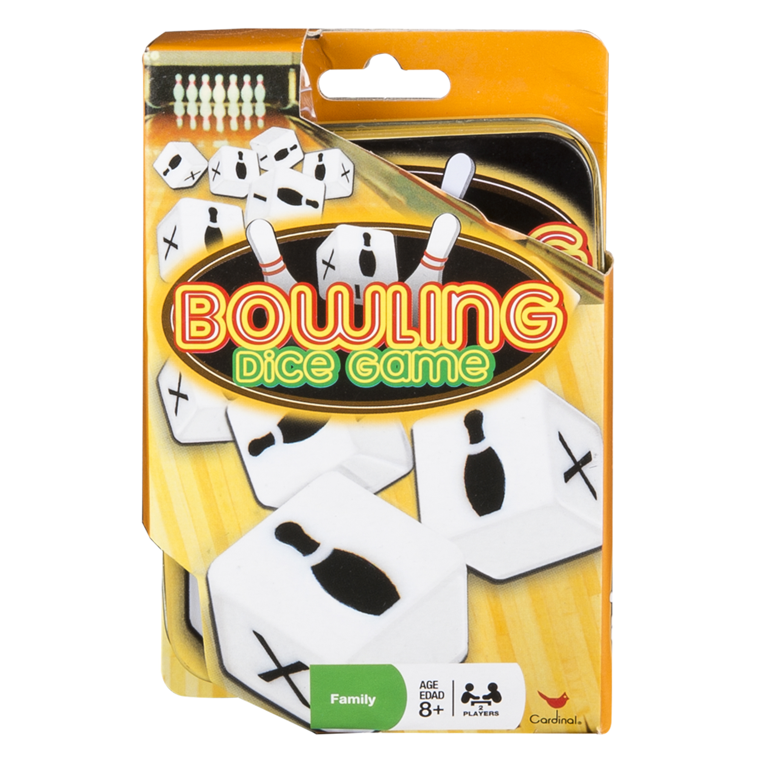 Bowling Dice Game in Storage Tin